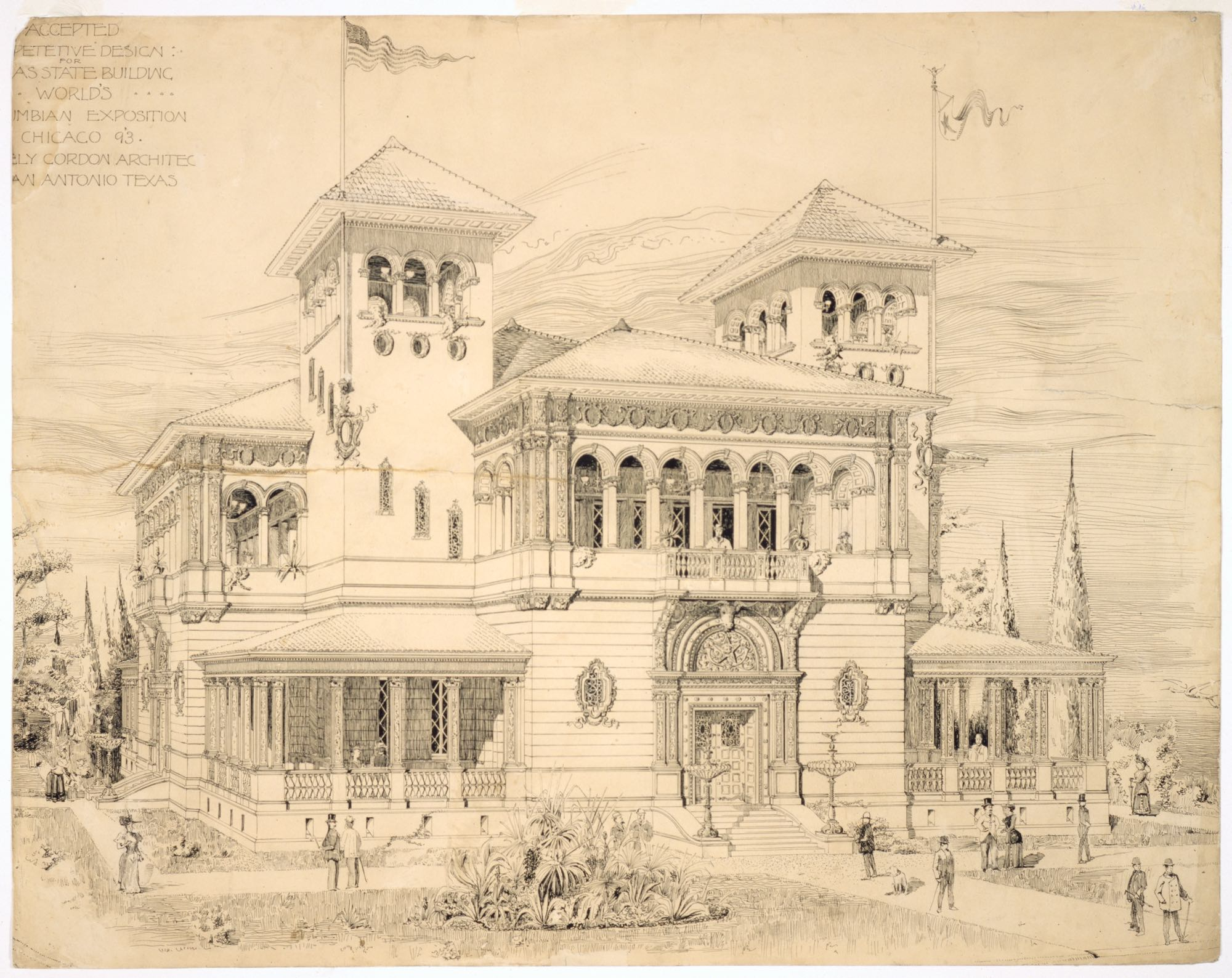 Texas State Building -World's Columbian Exposition
