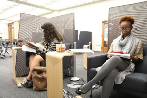 Silent Study Area in the Scholars Commons