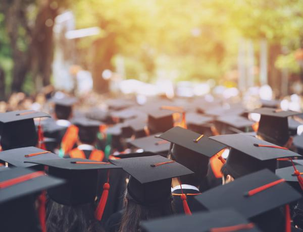 Students graduating.