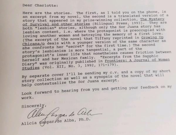 Gaspar de Alba correspondence