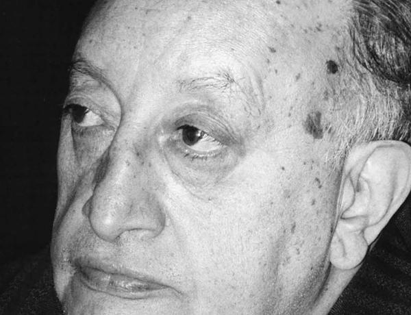 portrait in black and white of older man (miguel angel asturias)