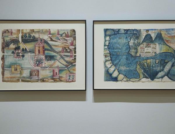 Guaxtepec (left) and Atitlan maps at the Huntington.