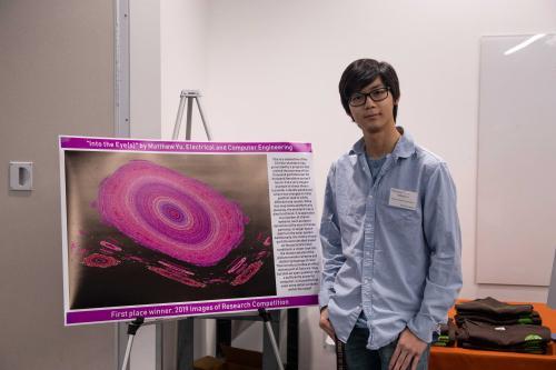 Matthew Yu with his winning entry.