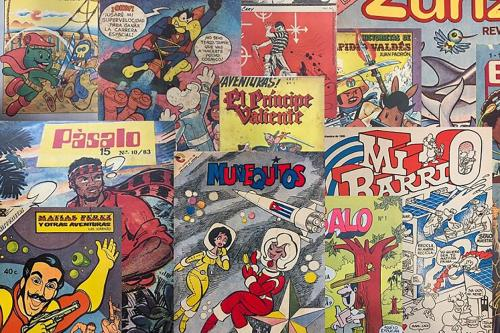 a selection of cuban comics from the castro era