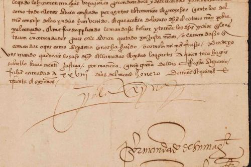 """manuscript page from sor juana ines de la cruz's """"book of professions"""""""