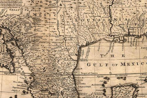 old map of the gulf coast of the united states