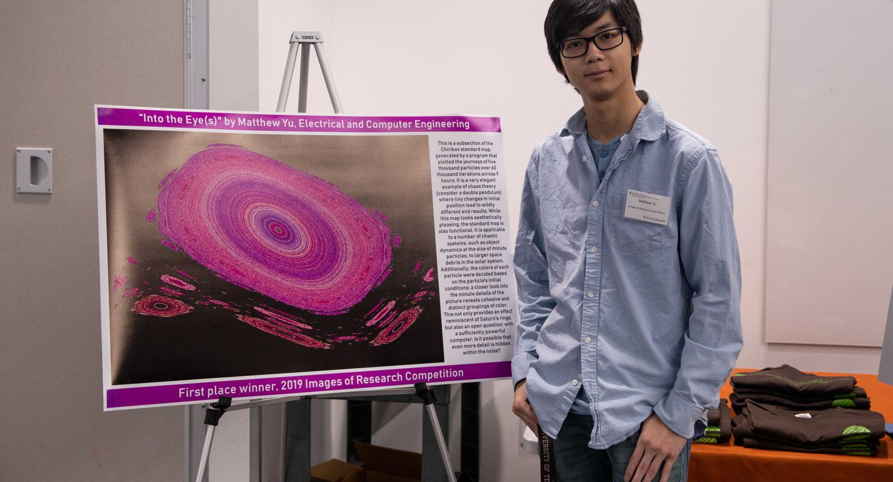 Matthew Yu with his winning entry.