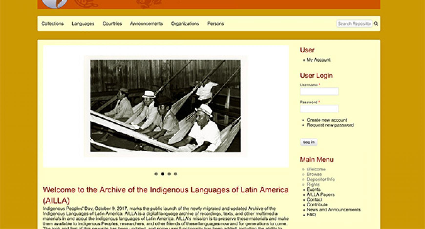 AILLA website