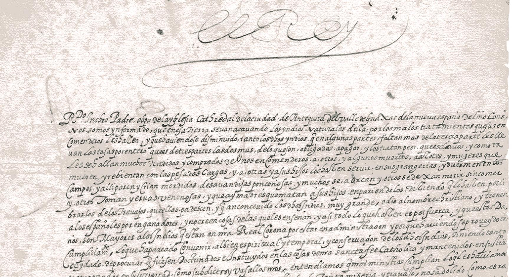 detail of scanned document in spanish