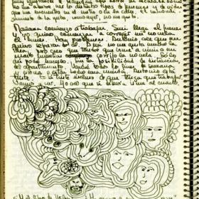 manuscript page by maria luisa puga