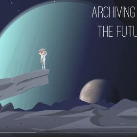 video screenshot of animated astronaut on moonscape