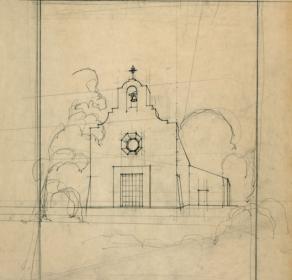 Mission Espíritu Santo de Zuñiga, restoration sketch.