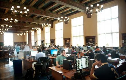 Life Science Library workstations