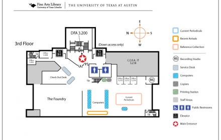 Fine Arts Third Floor Map