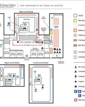 map of life science library