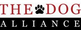 dog alliance text with paw print
