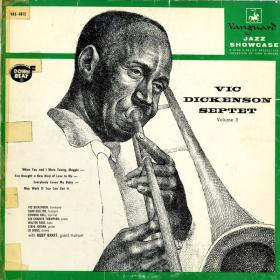 album cover with man playing trumpet