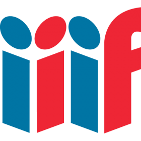 red and blue logo spelling i i i f