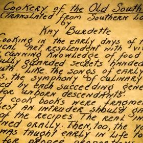 hand written summary about Southern cooking on paper