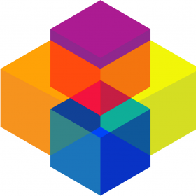 colorful overlapping cubes