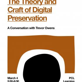 book cover with orange text and black circular shape
